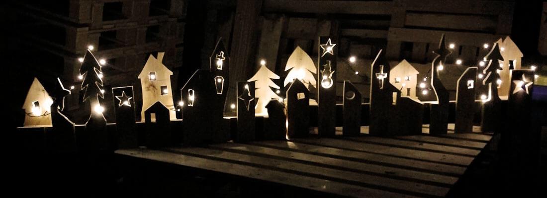 Beleuchtung Weihnachtsdeko aus Paletten