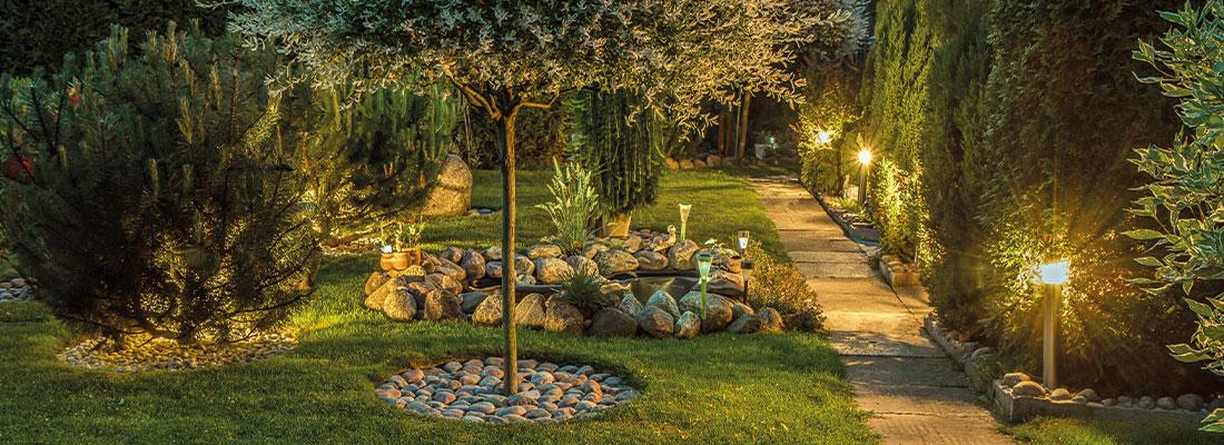 Gartenbeleuchtung modern