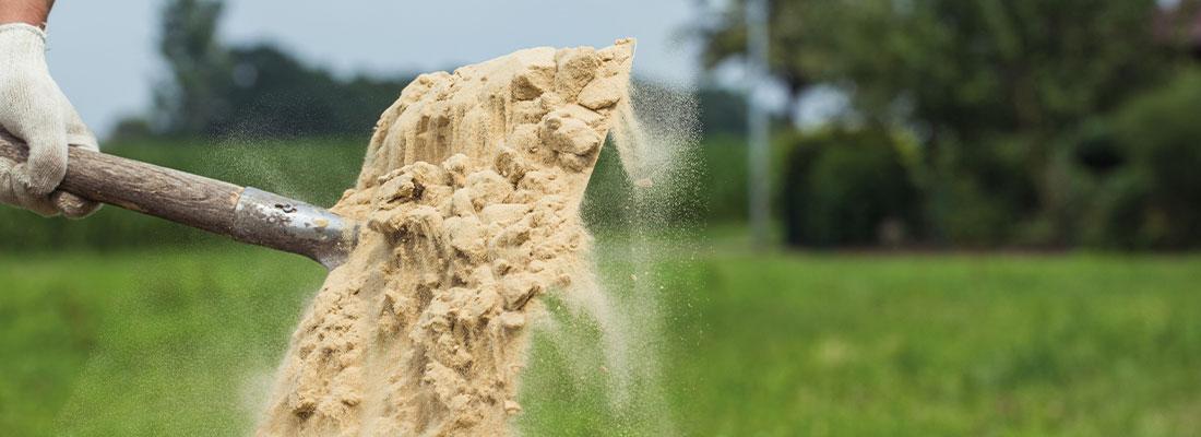 Rasen richtig sanden