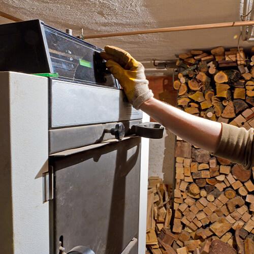 Holzvergaserheizung