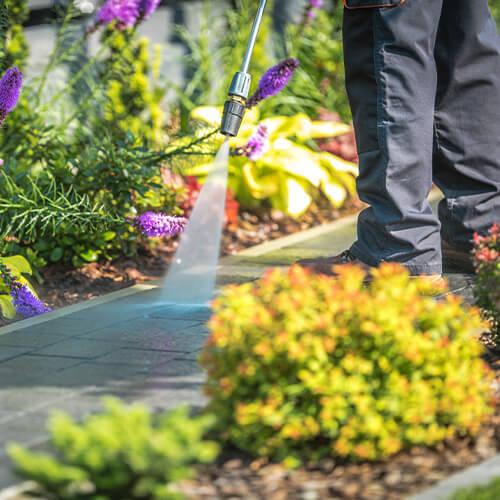 Gartenwege reinigen